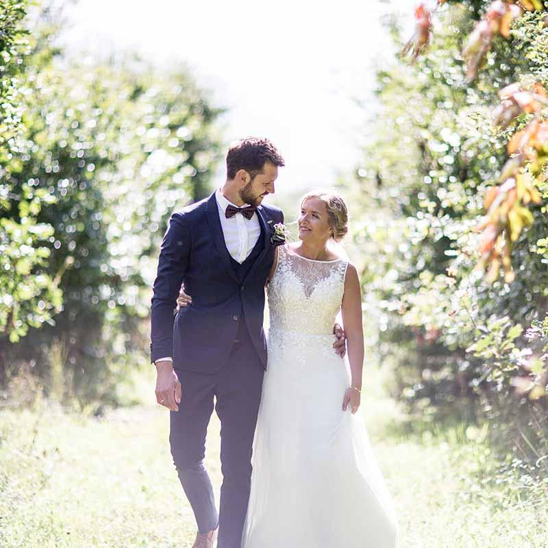 brudeparret i skoven udenfor Randers