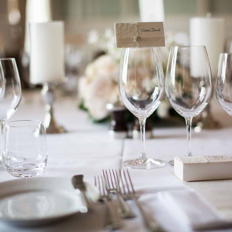 bord ved bryllup Randers